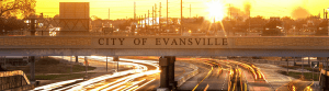 City of Evansville, Lloyd Expressway Overpass at Sunset