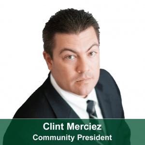 Clint Merciez-Community President