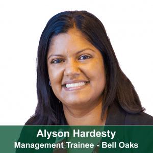 Alyson Hardesty-Bell Oaks Management Trainee