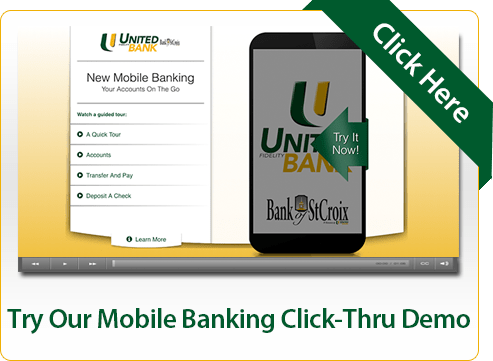 Try Our Mobile Banking Click-Thru Demo