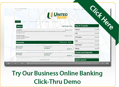 Try Our Business Online Banking Click-Thru Demo